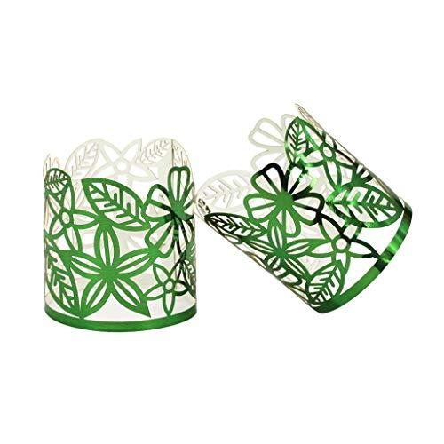Taotenish Papier-Lampenschirme/Teelichthalter/Tischdekoration, Grün, 50 Stück