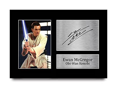 HWC Trading Ewan McGregor Gift Gesigneerd A4 Gedrukt Autograph Star Wars Geschenken Obi-Wan Kenobi Print Foto Foto…