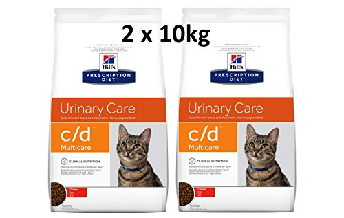 Hills Prescription Diet Feline c/d Multicare Chicken: 2 x 10 kg Pienso para gatos Veterinary Diets