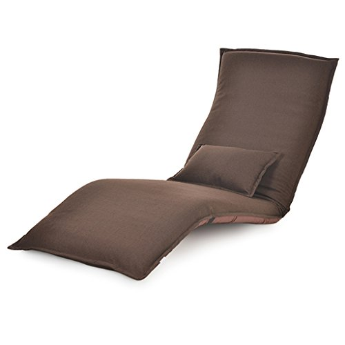 Fauteuil paresseux individuel baie vitrée chaise inclinable lit plancher inclinables maison ordinateur chaise (Couleur : Marron)