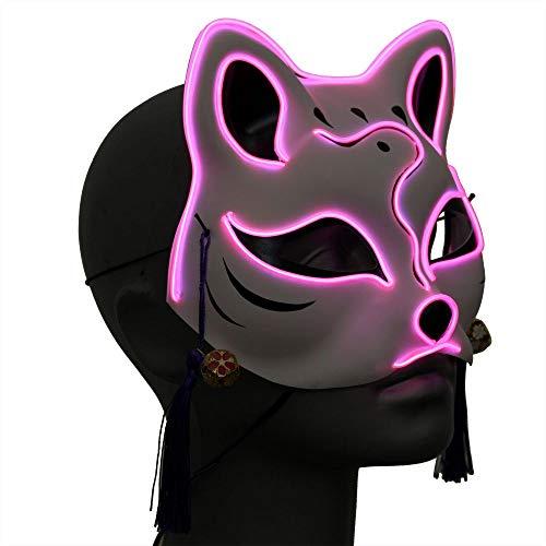 Ucult Japanische Anime Coseplay LED-Fuchsmaske