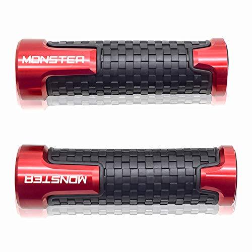 Universale 22mm 7/8'' Manopole manubrio Per Ducati Monster 400 620 695 696 796 797 821 Stealth 1100 1200 1200S Rosso