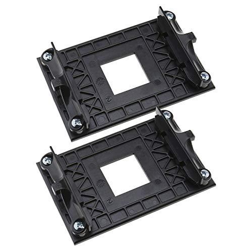 2 Stück CPU-Lüfterhalterung Kühler Kühlkörper Halterung für AMD AM4 Motherboard-Chipsatz B350 X370 A320 X470 mit Schrauben Seitenbefestigung