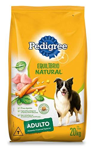 Ração Pedigree Equilíbrio Natural para Cães Adultos Raças Médias e Grandes 20 kg