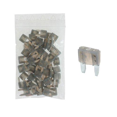 50 Flachstecksicherung Mini-Sicherung 2A / 32V / grau - Sicherung
