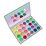 S/J Glitter De 24 Colores De Sombra De Ojos | Vista Fluorescente | Paleta De Maquillaje De Colores, Hipoalergénico, Amigable para La Piel, Brillantes Y Colores Normales, para La Fiesta De Cumpleaños.