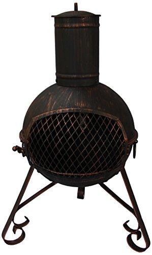 El Fuego LEXIE-70 - Chimenea de jardín (Acero), Color Negro