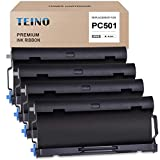 TEINO 4 Pack PC501 Compatible with Brother PC-501 PC501 PPF Print Fax Cartridge for Brother FAX-575 Fax 575 Ribbon Printer (Black)