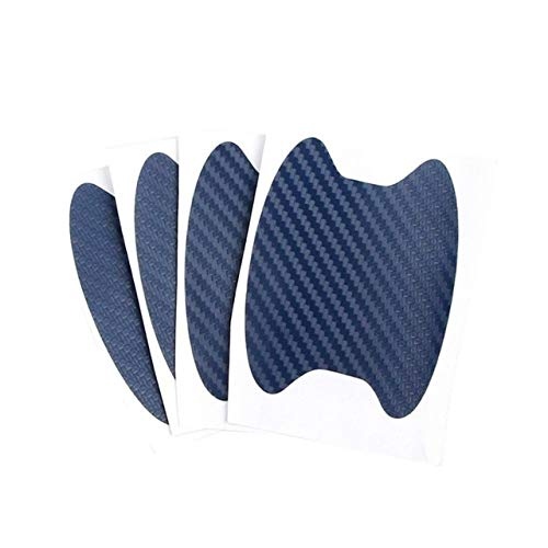 N\A Car Sticker Car Carbon Fiber Door Handle Sticker Scratches Resistant Sticker 4Pcs Car Handle Protection Film Universal Invisible Car Styling Stickers for Car (Color Name : Blue)