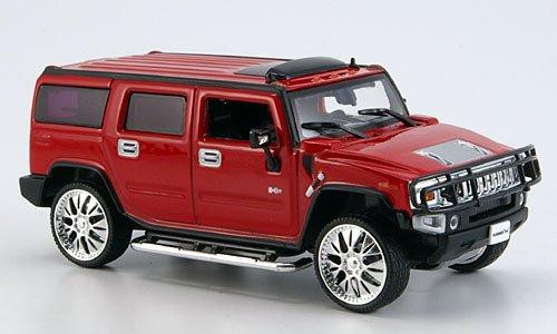 Hummer H2 SUV, rot, Tuning, 2005, Modellauto, Fertigmodell, Norev 1:43