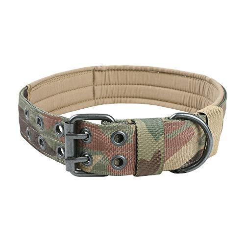 EXCELLENT ELITE SPANKER Verstellbares Hundehalsband-Training mit Metallschnalle für mittelgroße Hunde(Camouflage-L)
