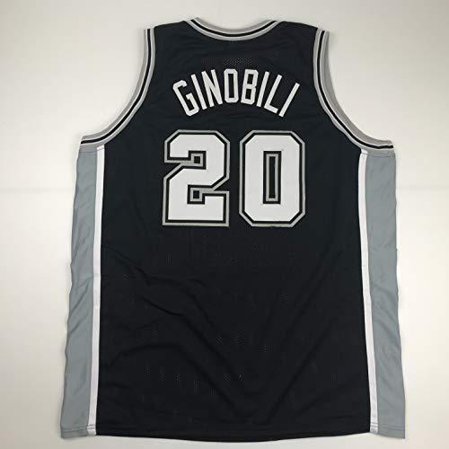 Unsigned Manu Ginobili San Antonio Black Custom Stitched Basketball Jersey Size Men's XL New No Brands/Logos