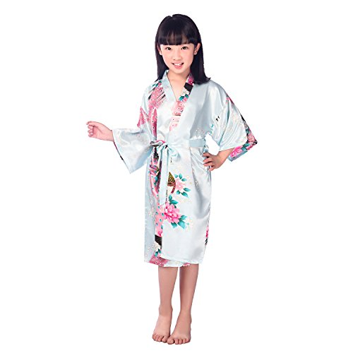 Albornoz con Estampado de Flores para niños de Kimono para niñas, Bata de baño para cumpleaños de Bodas en un SPA