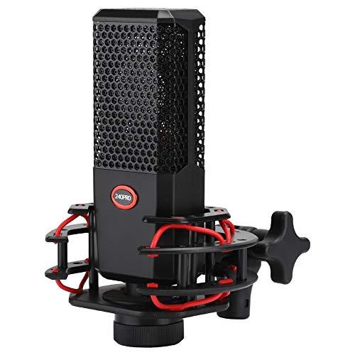 Akozon Grootmembraan condensator microfoon 420Pro Professionele 16mm cardioïde microfoon voor Studio Recording Live Streaming