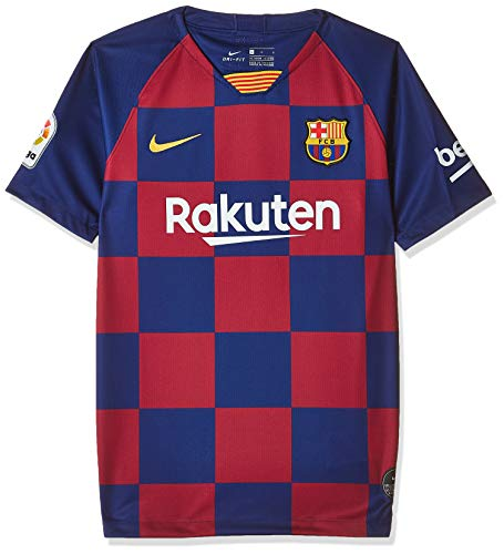 Nike 2019-20 FC Barcelona YOUTH Home Jersey - Red-Blue M