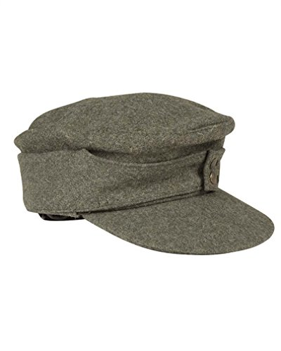 WH Feldmütze M43, Farbe: Grau, Reproduktion, Herren damen, grau - grau, 59