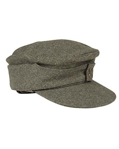 WH Feldmütze M43, Farbe: Grau, Reproduktion, Herren damen, grau - grau, 58