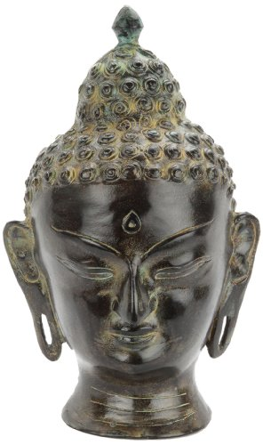 Urns UK Infinity Art Buddha Head Urn, Antique Bronze