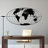 zhuzhuwen Hibou Rose Stickers Muraux Mcstuffins, Carte du Monde Planète Terre Globe Géographique Self Adh, Décoration Salon Société Vin 83X42Cm