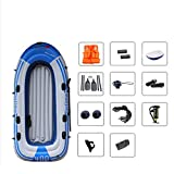 ADKINC Inflatable Floating Platform 4 People Camouflage Thick Inflatable Boat Dinghy Fishing Boat Waterproof PVC Material