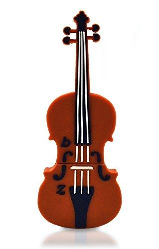 E.T. INSIDE viool vorm USB Flash Drive in geschenkdoos merk Stylus, 64GB, BRON