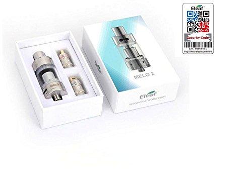100% ORIGINAL - Eleaf Melo 2 Clearomizer tank atomizer 4.5 ml SILBER - Sicherheitscode nachprüfbar auf der Website ELEAF