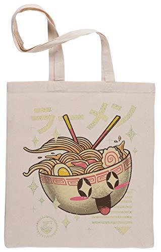 Kawaii Ramen Bolsa De Compras Shopping Bag Beige