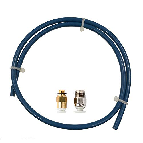 1 Meter Bowden Tube with PC4-M6 Extruder Fitting and PC4-M10 Hotend Fitting Authentic Capricorn Bowden PTFE Tubing XS Series for 1.75mm Filament