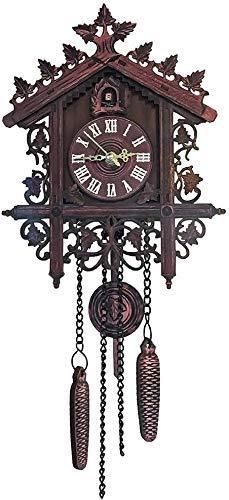LXDDP Kuckucksuhr, antike hölzerne Kuckuckswanduhr Bird Time Bell Swing Alarm Watch Home Art Decor