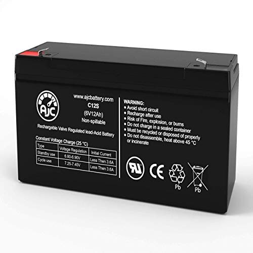 Rhino SLA12-6S Power Wheels 6V 12Ah Sealed Lead Acid Battery - This is an AJC Brand® Replacement