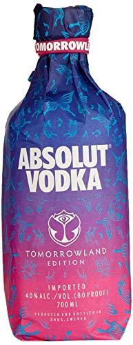 Absolut Vodka Original – Tomorrowland Festival Limited Edition mit Tomorrowland Drink Rezept auf der Flasche – 1 x 0,7 L
