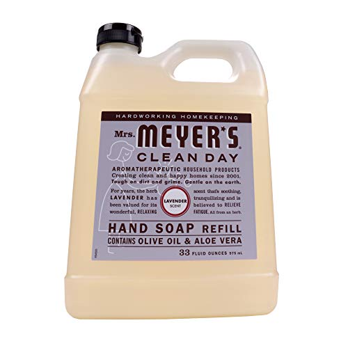 MRS. MEYER'S CLEAN DAY Liquid Hand Soap Refill, Cruelty Free and Biodegradable Formula, Lavender Scent, 33 oz