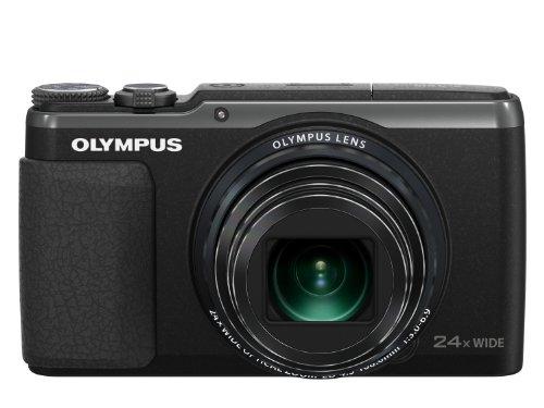Olympus SH-60 Digitalkamera (16 Megapixel, 24-fach Super Zoom, 7,6 cm (3 Zoll) LCD-Display, iHS, 5-achsiger Bildstabilisator, Full HD, Live Guide) schwarz