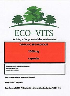 Organic BEE Propolis 1000mg 365 Capsules Immune System, ANTIOXIDANT, ANTIBIOTIC
