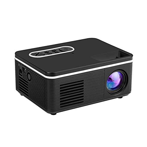 YANYANGTIAN Mini proyector Full HD 1080P y 80'Proyector de duplicación inalámbrica portátiles, portátiles para iOS/Android/TV Stick / PS4 / PC Home & Outdoor (Color : Black)