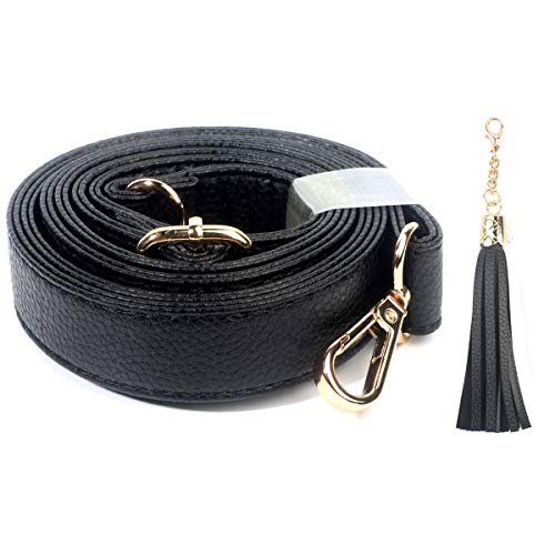 "HIGH QUALITY - Made of microfiber leather. The leather is more lightweigt and durable than PU leather PERFECT Length - Can adjust from 34"" to 59"". A person is 6'0"" and it goes on the hip at the longest length SUITABLE FOR - Soft and comfy, this strap..."