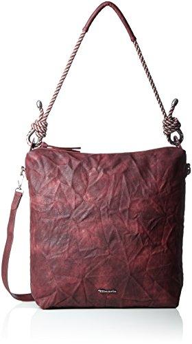Tamaris Damen Lindsey Hobo Bag Schultertasche, Rot (Vino), 22x15x33 cm