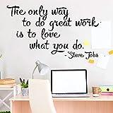 Steve Jobs, cita, calcomanía de pared, vinilo moderno, gimnasio, ventana, puerta, pared, pegatina extraíble, pegatinas artísticas de pared A5 57x33cm