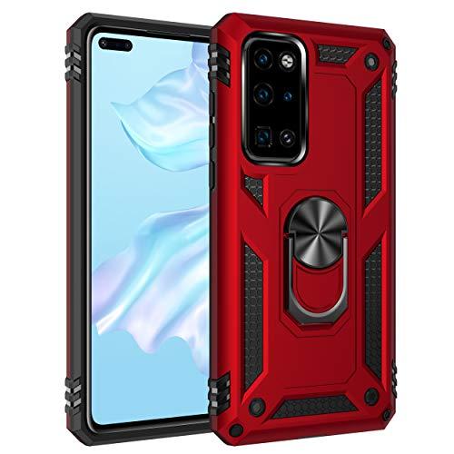 Compatible con Huawei P40, funda para teléfono móvil giratoria 360°, compatible con soporte magnético, resistente a los golpes