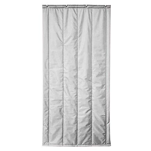 ZXL deurgordijn, thermische isolatie, warm houden, winter winddicht, deurframe Oxford doek, 5 kleuren, 14 maten (kleur: grijs, grootte: 150x200cm)