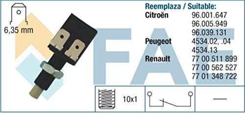SPECTROMATIC 24081 interruptor de luz de parada CITROEN PEUGEOT 96039131 7700511899 contactos plateados