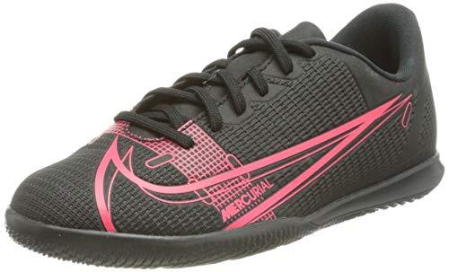 Nike Jr Vapor 14 Club IC, Football Shoe, Black/Black-Cyber-Siren Red, 32 EU