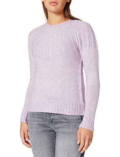 Springfield Jersey Estructura Cuello Suéter, Morado/Lila, M para Mujer
