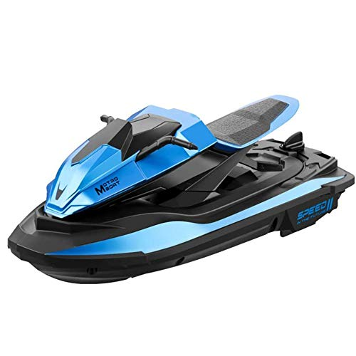 HZWZ RC Racing Boat 2.4G Long-Lasting Battery Life 20 Minutes Rowing Summer Toy Speed Boat Motor Racing Rowing Children's Boat, Remote Control Boat, Children's Best Birthday,Blue