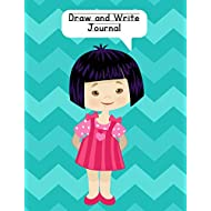 Draw and Write Journal: Composition Notebook for Kids - Paper With Primary Lines and Half Blank Space for Drawing Pictures - 140 Pages - Girl Design #2