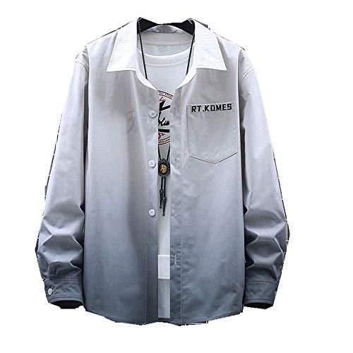 NP Overhemd Heren Overhemd - grijs - 3XL