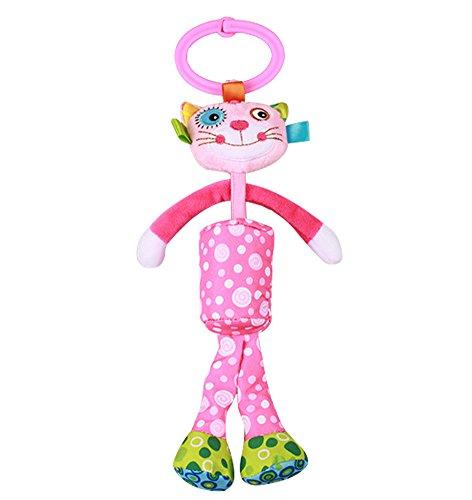 Cuddty Baby Furin - Percha de peluche, diseño de animales rosa pink calico