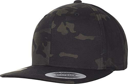 Flexfit Classic Snapback Cap, Black Multicam, One Size