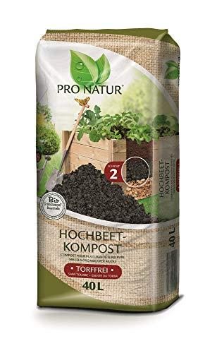 Pro Natur HOCHBEETKOMPOST 40 l. Grünkompost, Kompost speziell für Hochbeete. Z298