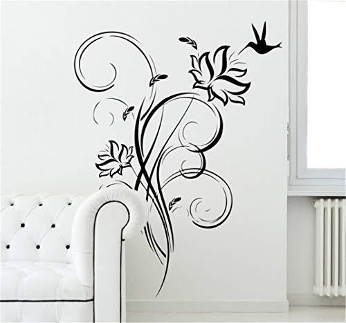 wandaufkleber 3d Wandtattoo Schlafzimmer Kolibri Floral Decal für Wohnzimmer Schlafzimmer